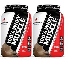 100% Whey Muscle (900g) - 2 unidades